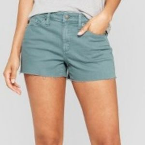Women's High-Rise Shortie Jean Shorts
